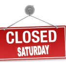Closing Saturdays During July and August